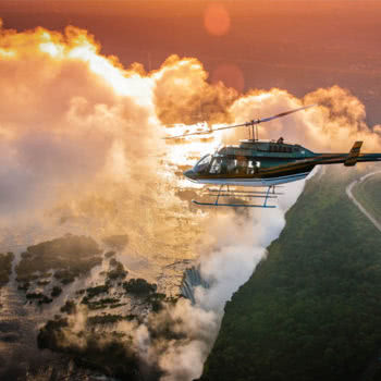 Victoria Falls Helicopter Flight Sunset