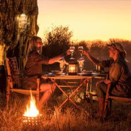Vintage Camp Hwange Bush Dinner