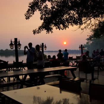 Victoria Falls Waterfront Sunset