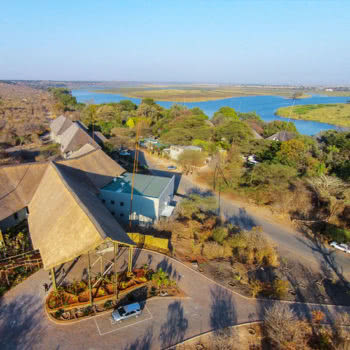 Chobe Bush Lodge Aerial