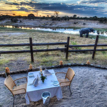 Savute Safari Lodge Dinner Couple