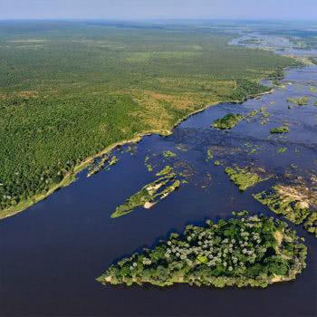 Victoria Falls Island Lodge Aerial