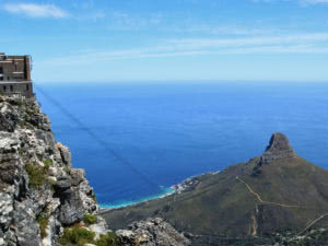 Lion's Head and the Atlantic in Cape Town