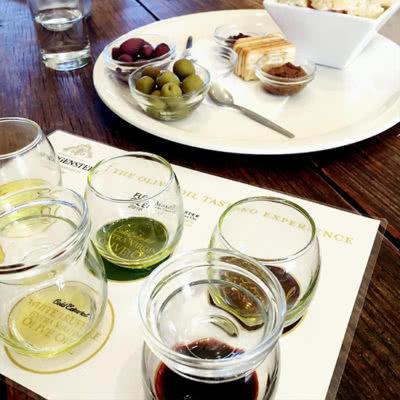 Gourmet Food & Wine Plate