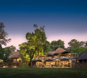 Sunset in Victoria Falls at the Stanley & Livingstone